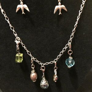 Jewelry - Necklace earring set with interchangeable charms